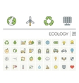 Ecology and environmental color icons vector image vector image