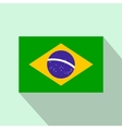 Flag of Brazil icon flat style vector image vector image