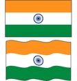 Flat and waving Indian Flag
