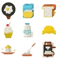 Flat icons for morning menu vector image