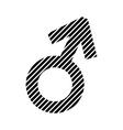Gender male symbol sign vector image vector image