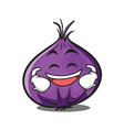 grinning red onion character cartoon vector image vector image