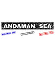 Grunge andaman sea scratched rectangle stamp seals