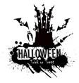 grunge halloween haunted castle vector image vector image