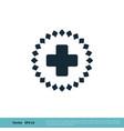 health care icon logo template design eps 10 vector image vector image