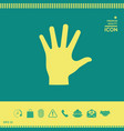 helping hand silhouette- icon vector image