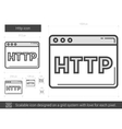 Http line icon vector image vector image