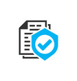 insurance policy icon in flat style report on vector image vector image
