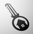 key from the lock vector image