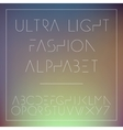 light fashion alphabet letters collection vector image vector image
