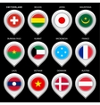 Map marker with flag-set first vector image vector image