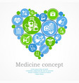 medical heart concept vector image vector image