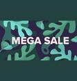 mega sale banner design template vector image vector image