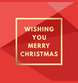 merry christmas creative minimal winter greeting vector image vector image