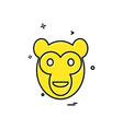 monkey icon design vector image