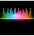 multicolored abstract sound background vector image vector image