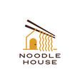 noodle house chopstick logo icon vector image