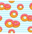 Pattern donut with pink glaze vector image vector image