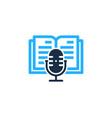 read podcast logo icon design vector image