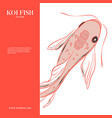 red menu koi fish ilustration japanese chinese vector image vector image