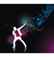 rock singer vector image vector image