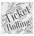 rolling stones tickets Word Cloud Concept vector image vector image