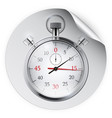 round sticker with stopwatch vector image vector image