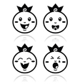 Royal baby little prince icons set vector image vector image