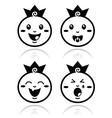 royal balittle prince icons set vector image