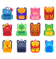 school bags backpacks with zipper and pockets for vector image vector image