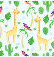 seamless pattern with giraffe in scandinavian styl vector image