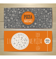 Set of banners with pizza Sketch vector image vector image