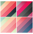 set of retro stripe diagonal pattern with stylish vector image