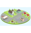 Set of the isometric city buildings vector image vector image
