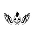 skull and wings images on vector image