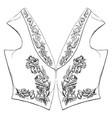 sleeveless upper body garment vintage engraving vector image vector image