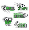 soccer football tournament icons set vector image vector image