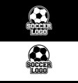 soccer logo design for team or gamer vector image