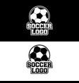soccer logo design for team or gamer vector image