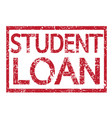 stamp text student loan vector image vector image