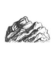 summit of mountain landscape hand drawn vector image vector image
