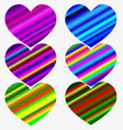 sweet heart - rainbow gradient color handwritten vector image