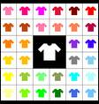 t-shirt sign felt-pen 33 vector image vector image