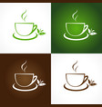 teahouse icons vector image