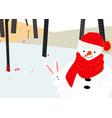 vintage cute merry christmas cardwinter baby vector image vector image