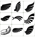 Wings Set Design Elements vector image vector image