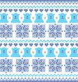Winter Christmas navy blue seamless bear pattern vector image vector image
