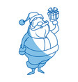 santa claus beard moustache christmas thin line vector image