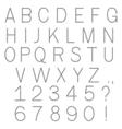 abc chain alphabet letters vector image