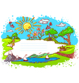 cute summer frame vector image